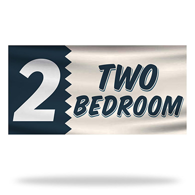 2 Bed Room Flags & Banners Design