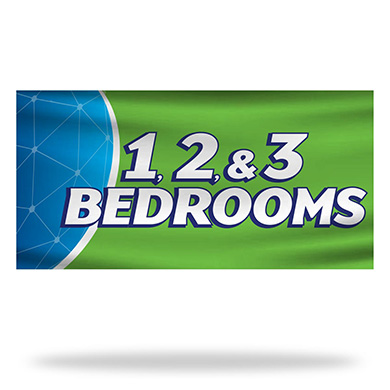 1-2-3 Bed Rooms Flags & Banners Design