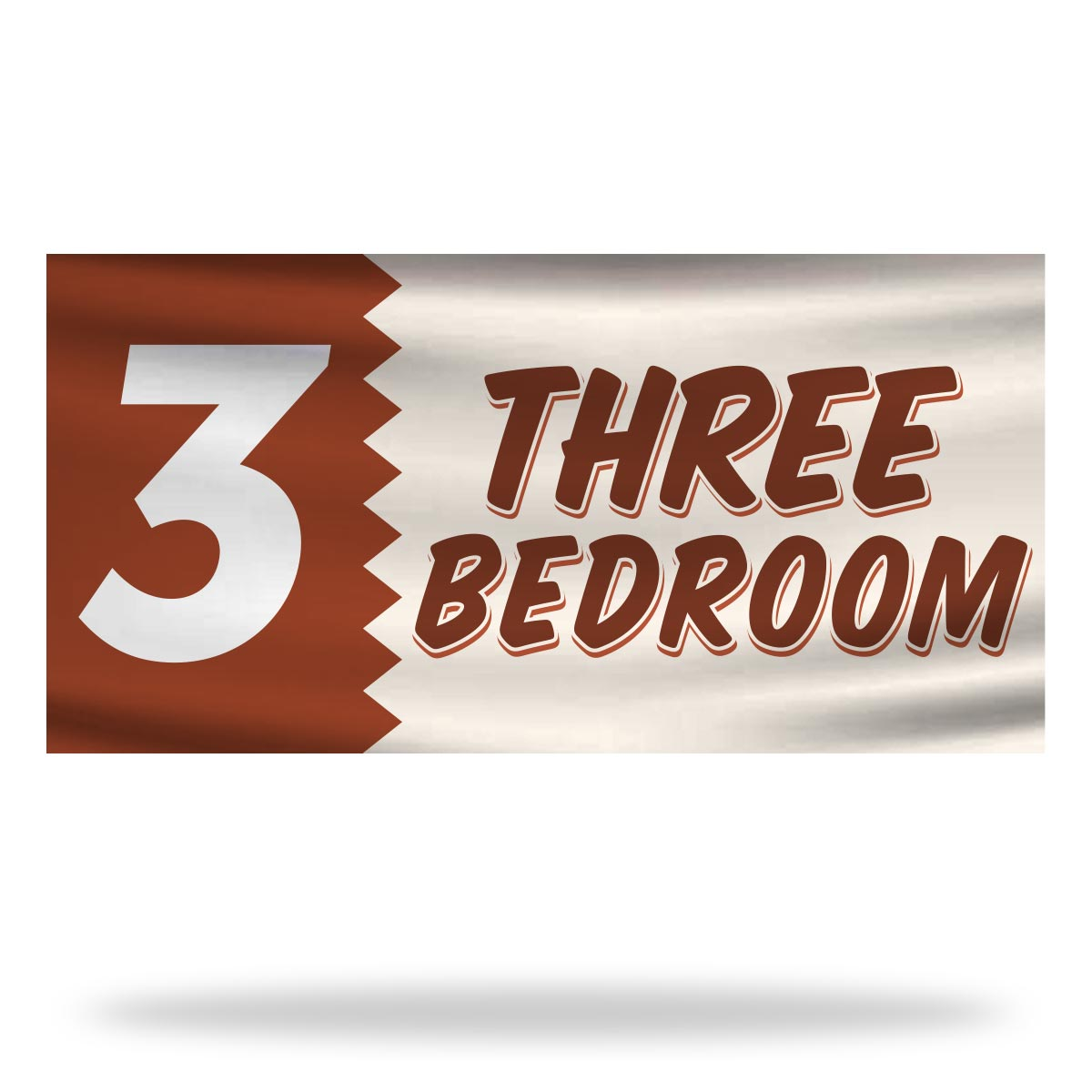 3 Bed Room Flags & Banners Design
