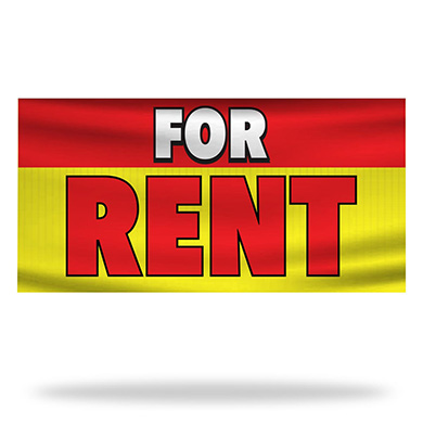 For Rent Flags & Banners Design 01