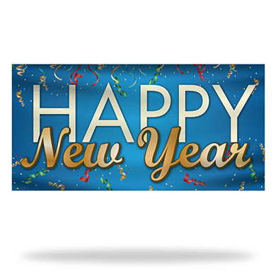 New Year Flags & Banners Design 01