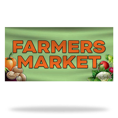 Farmers Market Flags & Banners Design 03