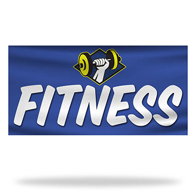 Fitness Flags & Banners Design 02