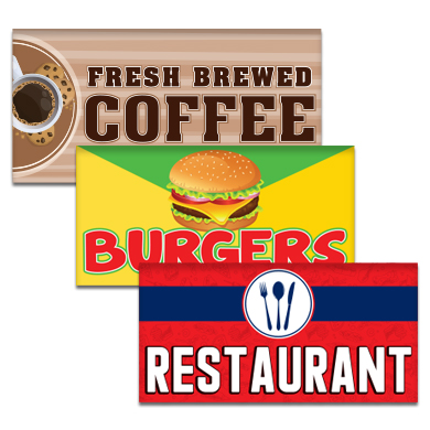Buy Restaurant Flags Pre-Designed Online