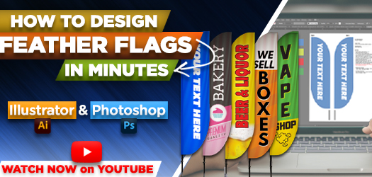 How to Design Feather Flags in MINUTES using Adobe Illustrator & Photoshop