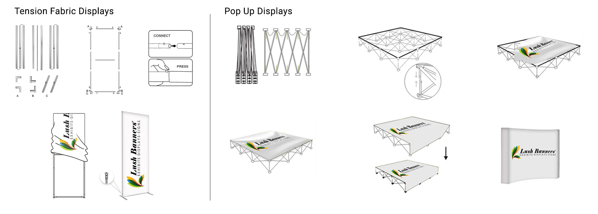 Easy to Install Portable Trade Show Displays & Booths