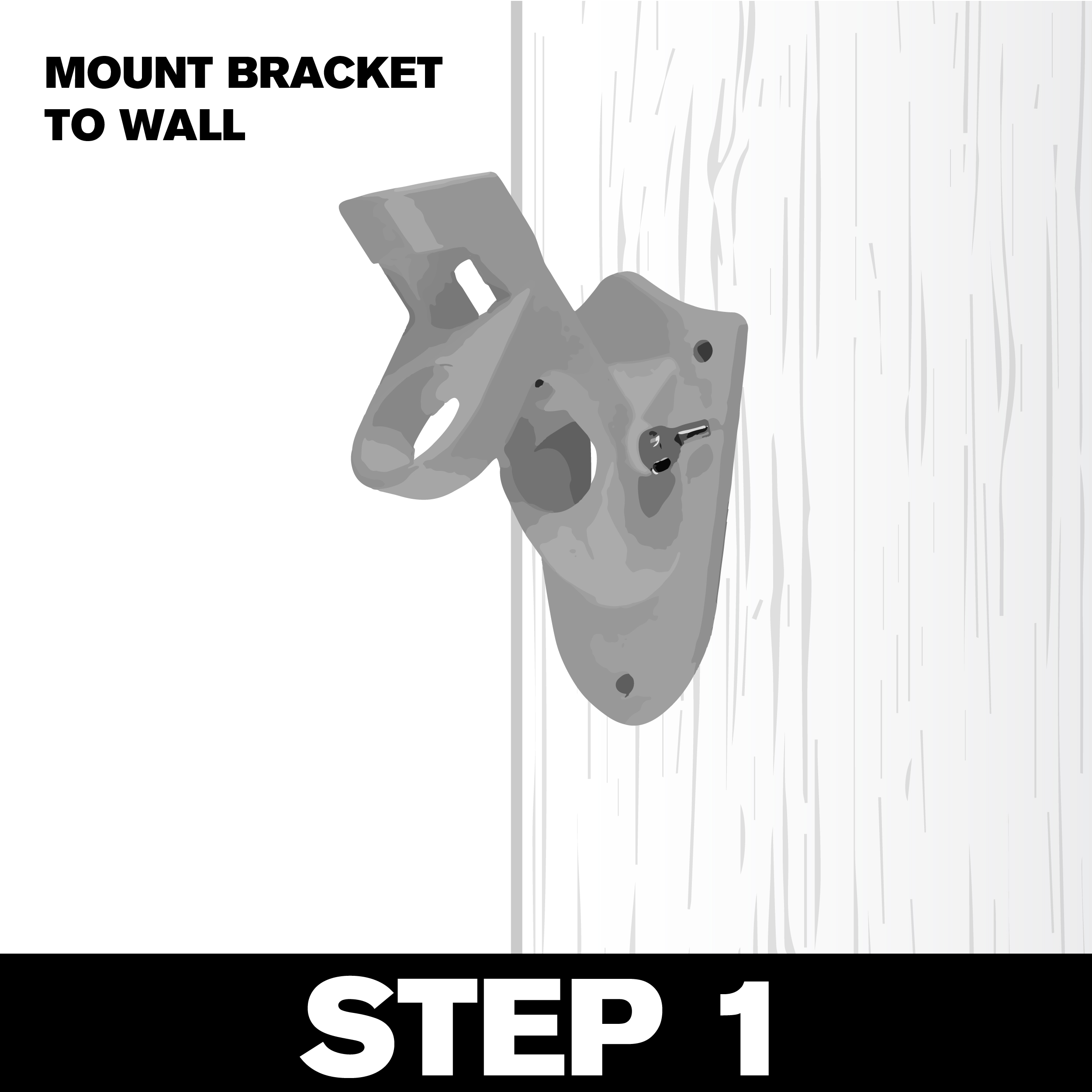 Wall Bracket Hanging - Step 1