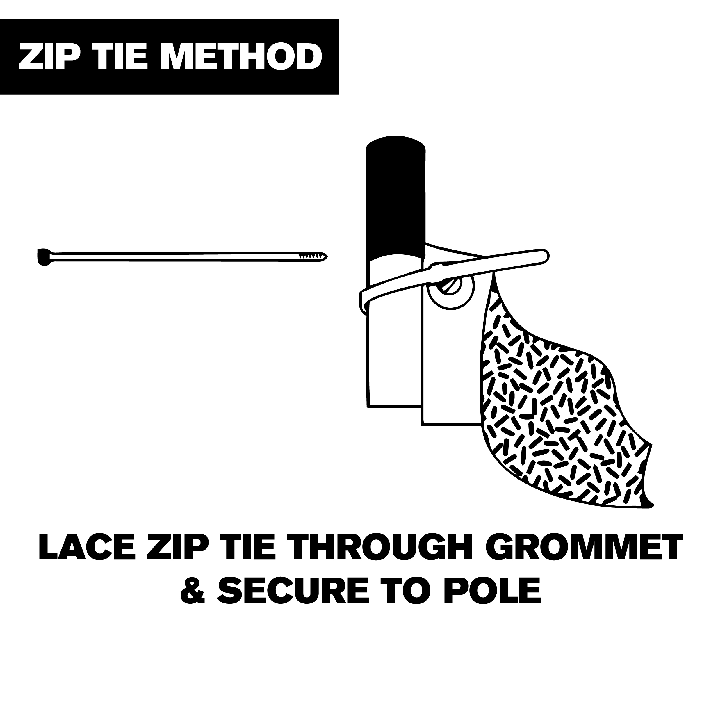 zip tie-step1