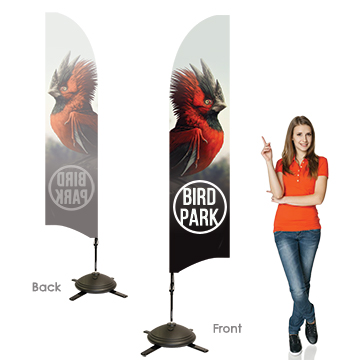 Bowhead Banners Single Sided, Right Facing Option with Pole on the Left