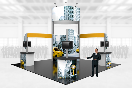 Hybrid Trade Show Displays Booths