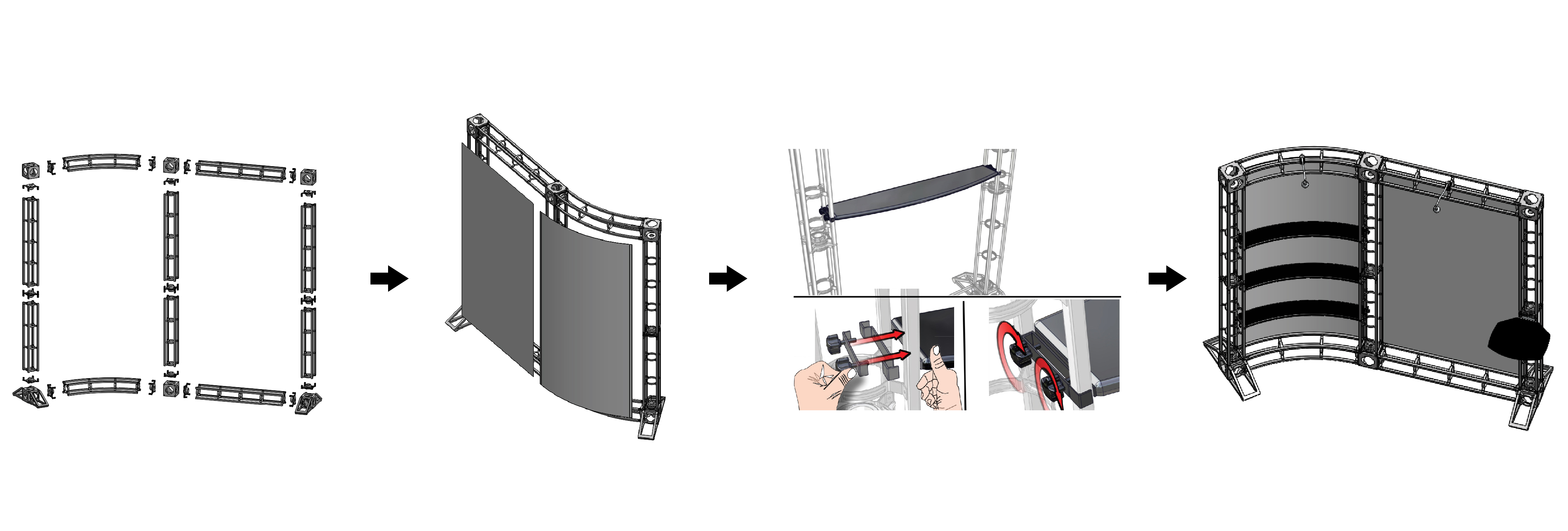 How to Assemble Truss Modular Pro Trade Show Booths