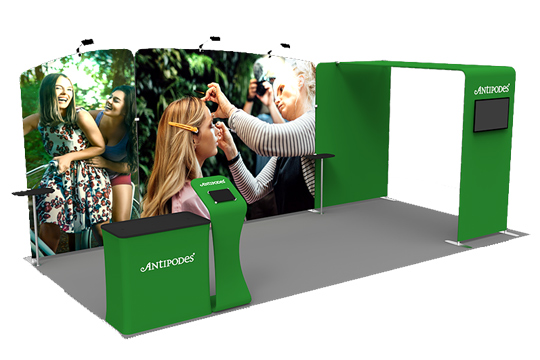 10x20 Formulate Fabric Trade Show Booth
