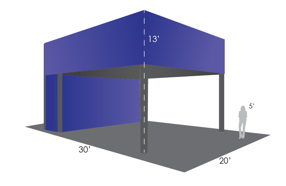 Booths Size Chart