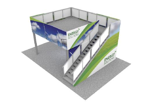 Double Decker Trade Show Exhibit Booth
