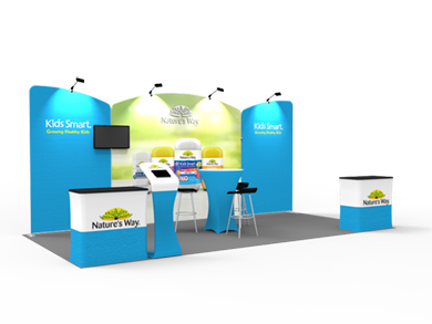 10x20 Trade Show Booth Formulate Fabric 03