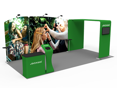 10x20 Trade Show Booth Formulate Fabric 01