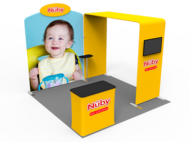 10x10 Trade Show Booth Formulate Fabric 02