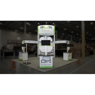 20x20 Trade Show Island Display Hybrid 01