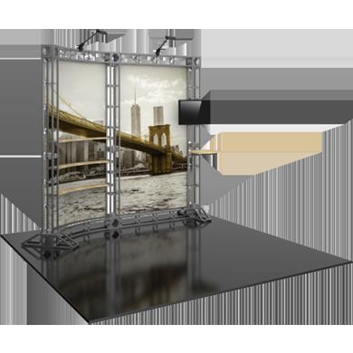 10x10 Trade Show Booth Modular Truss 02