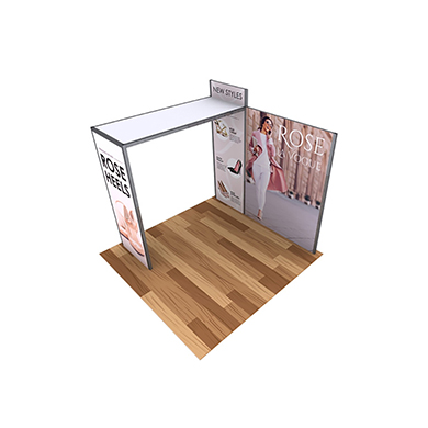 10x10 Alpine Trade Show Booth 01 with Side Arch