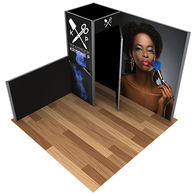 10x10 Alpine Trade Show Booth 02 with Storage Room