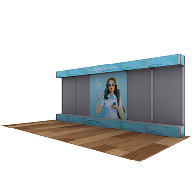 20x10 Alpine Trade Show Booth 04 with Slate Walls