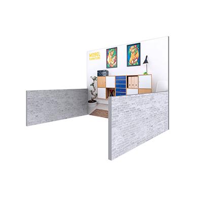 10x10 Modco Modular Trade Show Display 01 with Half Side Panels