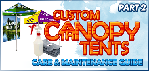 Take Care and Maintain Your Canopy Tent Part 2: Frame and Accessories