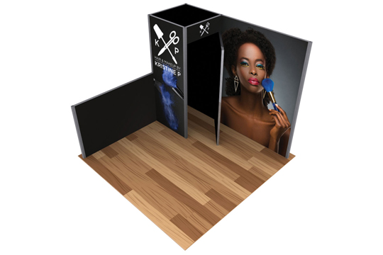 Booths with Privacy Rooms & Storage