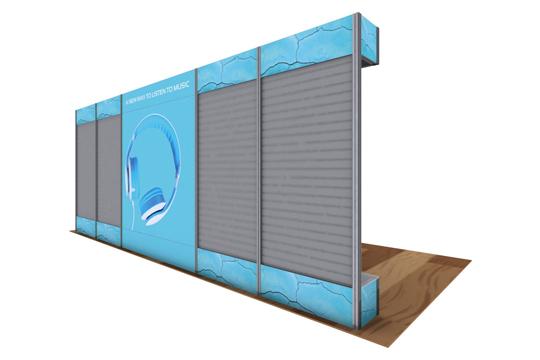 Alpine Displays with Slat Walls