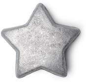 A silver star shaped bath melt