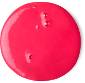 red round blob of shower gel