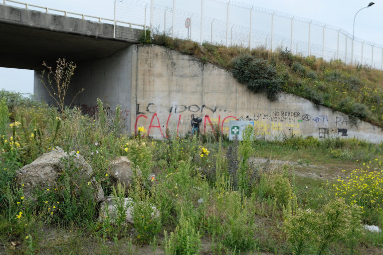The site of the old Jungle in Calais