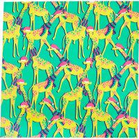 Giraffes Knot Wrap con fondo verde e disegno di giraffe - Edizione Limitata Natale 2019