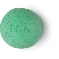 geo phyzz é uma bomba de banho verde com sal marinho vermelho do Havai