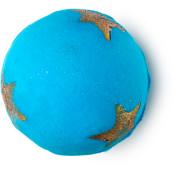 shoot for the stars bomba de baño de edición limitada de navidad de color azul con estrellas amarillas