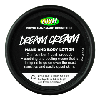 locket på body lotion Dream Cream från Lush