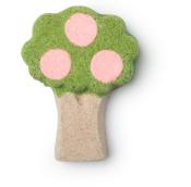 _Bomba da bagno Under the umbrella tree a forma di albero con frutti rosa