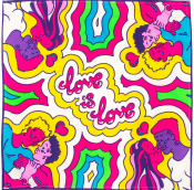 multicoloured love is love knot wrap