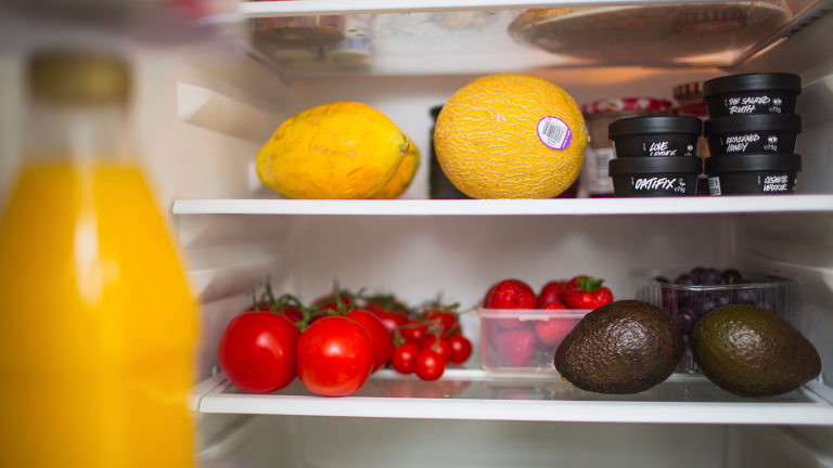 Fresh fruit in the fridge