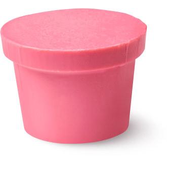 un acondicionador corporal sólido de color rosa