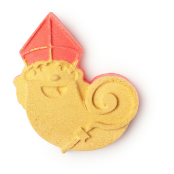 a orange, yellow and red bath bomb