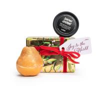 Presente de Duche dourado joy to the world para uma pele super suave