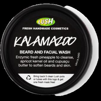 Vista dall'alto del vasetto del Detergente per viso e barba a base di oli idratanti e frutta Kalamazoo - Beard grooming