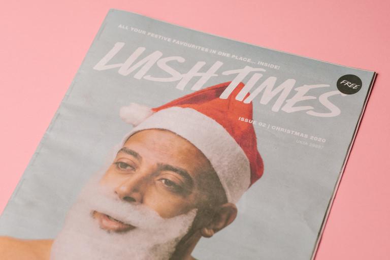 gratistidning från Lush med jultema