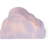 cloud shaped purple and white marbled soap