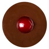 Braune Jelly Gesichtsmaske mit Rotem Punkt