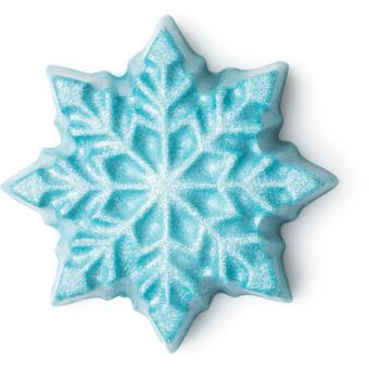 let it snow barrito de brillo de navidad de color azul en forma de copo de nieve