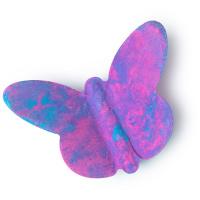 rose butterfly bomba de baño de color azul y rosa en forma de mariposa