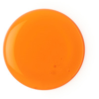 a orange shower gel splodge on white background